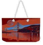 Panorama Golden Gate Bridge Landmark 2 Weekender Tote Bag