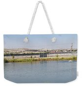 Panorama Of A Pond Weekender Tote Bag