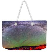 Panorama Of Milky Way Above The Table Weekender Tote Bag