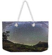 Panorama Of Milky Way Over Red Rock Weekender Tote Bag