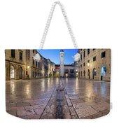 Panorama Of Stradun Street And Luza Square In Dubrovnik, Dalmati Weekender Tote Bag