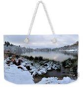 Panorama Of Winter Lake Weekender Tote Bag
