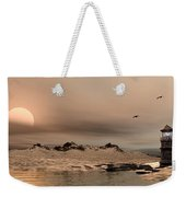 Panorama Winter Ocean Scene Weekender Tote Bag