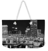 Panoramic Baltimore In Black And White Weekender Tote Bag