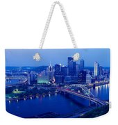 Panoramic Evening View Of Pittsburgh Weekender Tote Bag