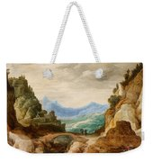 Panoramic Landscape With Travellers Weekender Tote Bag
