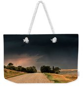 Panoramic Lightning Storm In The Prairie Weekender Tote Bag