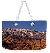 Panoramic Moon Set Alabama Hills Eastern Sierras California Weekender Tote Bag
