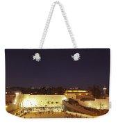 Panoramic Night View Of The Wailing Wall  Weekender Tote Bag