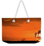 Panoramic Prairie Sunset Weekender Tote Bag