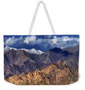 Panoramic Rocky Landscape Of Leh City Ladakh Jammu And Kashmir India Weekender Tote Bag