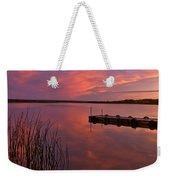 Panoramic Sunset Northern Lake Weekender Tote Bag
