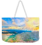 Panoramic Sunset On Mount Evans Weekender Tote Bag