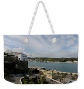 panoramic town 1  - Panorama of Mahon Menorca with old town and harbour Weekender Tote Bag