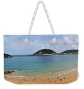 Panoramic View Of Beautiful Beach, San Sebastian, Spain  Weekender Tote Bag