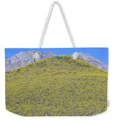 Panoramic View Of Desert Gold Yellow Weekender Tote Bag