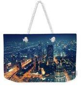 Panoramic View Of Dubai City Weekender Tote Bag