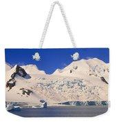 Panoramic View Of Glaciers And Iceberg Weekender Tote Bag