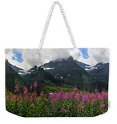 Panoramic View Of 'going To Sun Road' Weekender Tote Bag