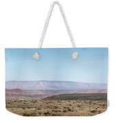 Panoramic View Of Open Desert Field In Nevada With Grand Canyon  Weekender Tote Bag