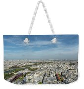 Panoramic View Of Paris From The Top Of The Tower Weekender Tote Bag