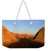Panoramic View Of Road Going Weekender Tote Bag