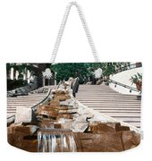 Panoramic View Of Stairs And Waterfall Weekender Tote Bag
