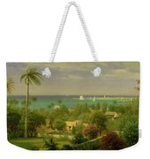 Panoramic View Of The Harbour At Nassau In The Bahamas Weekender Tote Bag by Albert Bierstadt