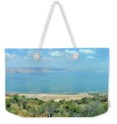 Panoramic View Of The Sea Of Galilee Weekender Tote Bag