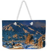 Panoramic Winter In The Alabama Hills Eastern Sierras California Weekender Tote Bag