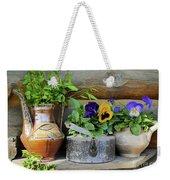 Pansies In Pots Weekender Tote Bag