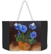 Pansies In Terracotta Weekender Tote Bag