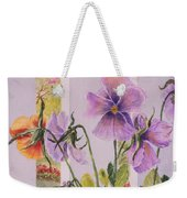 Pansies On My Porch Weekender Tote Bag