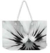 Pansy 01 Bw - Thoughts Of You Weekender Tote Bag