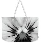 Pansy 02 Bw - Thoughts Of You Weekender Tote Bag
