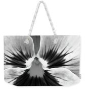 Pansy 06 Bw - Thoughts Of You Weekender Tote Bag
