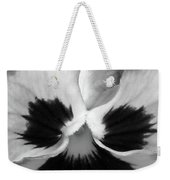Pansy 09 Bw - Thoughts Of You Weekender Tote Bag