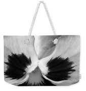 Pansy 10 Bw - Thoughts Of You Weekender Tote Bag