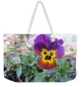 Pansy Perfection Weekender Tote Bag