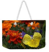 Pansy Play Weekender Tote Bag