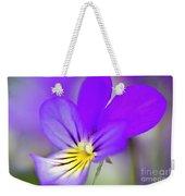 Pansy Violet Weekender Tote Bag