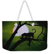 Panther Silhouette - Use Red-cyan 3d Glasses Weekender Tote Bag