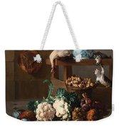 Pantry With Artichokes Cauliflowers And A Basket Of Mushrooms Weekender Tote Bag