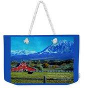 Paonia Mountain And Barn Weekender Tote Bag