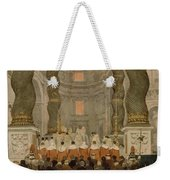 Papal Ceremony In St Peter In Rome Under The Canopy Of Bernini Weekender Tote Bag