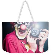 Paparazzi Taking Photograph At Red Carpet Event Weekender Tote Bag