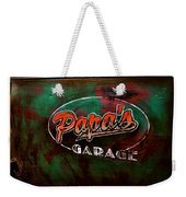 Papa's Garage Weekender Tote Bag