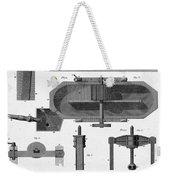 Paper Mill Diagram, 1814 Weekender Tote Bag