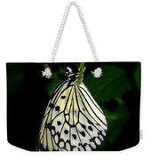Paperwhite Butterfly Weekender Tote Bag