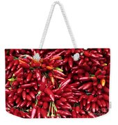 Paprika Peppers At A Market Stall. Weekender Tote Bag